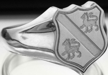 sexton family crest. family crest rings
