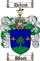 Wood Scottish Coat of Arms